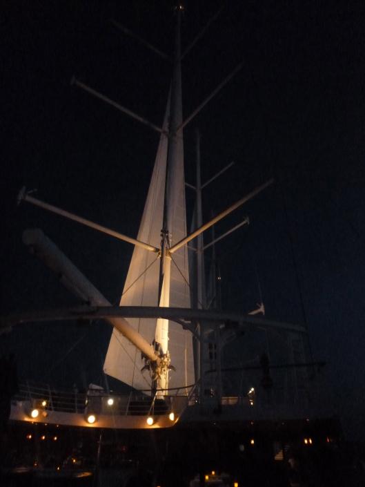 Night sails on the Wind Spirit
