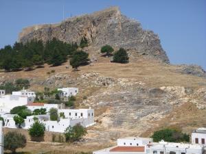 Theater below Acropolis, Lindos