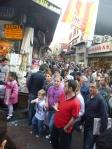 Friday night shoppers near the Spice Market