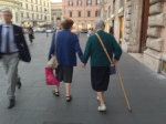 There's a passegiatta in Rome, too.