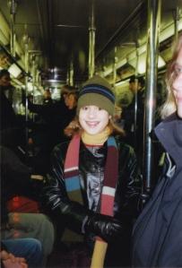 My first grandchild, Ally, in New York