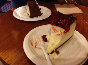 Cheesecake at Two Little Red Hens