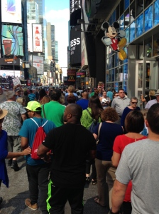 Typical day at Times Square