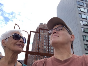 Being a part of the sculpture on the High Line.