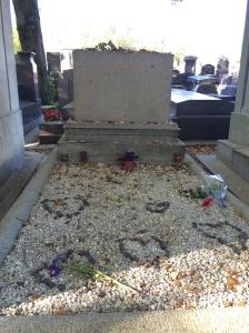 Many stones adorn Stein's grave.